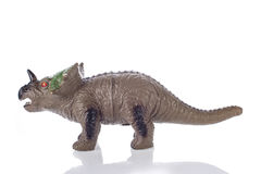 Triceratops toy  on white. Triceratops toy rubber  on white background Stock Photos