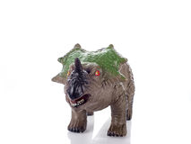 Triceratops toy  on white. Triceratops toy rubber  on white background Stock Image