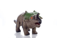 Triceratops toy  on white. Triceratops toy rubber  on white background Stock Photo