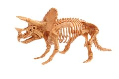 Triceratops. Toy isolated on white Stock Image
