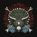 Triceratops. Vector illustration of furious triceratops Royalty Free Stock Images