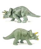 Triceratops zabawki strony odizolowywać na białym tle Obraz Royalty Free