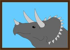 Triceratopsselfie royaltyfri illustrationer