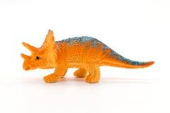 Triceratopsstuk speelgoed model op witte achtergrond Stock Afbeelding