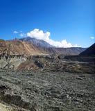 Trichter-Gletscher in Pakistan lizenzfreie stockfotos