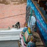 TRICHY, ÍNDIA 14 DE FEVEREIRO: Trabalhador indiano o 14 de fevereiro de 2013 dentro Foto de Stock Royalty Free