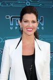 Tricia Helfer obtient à Disney XD   Photos stock