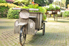 Triciclo de madera Imágenes de archivo libres de regalías
