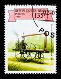 a Triciclo del vapore di Murdock, 1786, serie Vapore a forza dei veicoli, Fotografia Stock Libera da Diritti