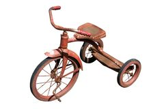 Triciclo isolado Imagens de Stock Royalty Free