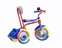 Triciclo no fundo branco Foto de Stock Royalty Free