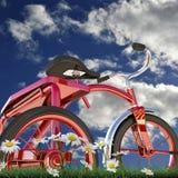 Triciclo rojo stock de ilustración