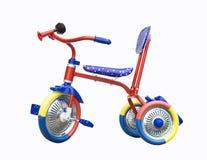 Triciclo su fondo bianco Fotografie Stock
