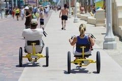 Triciclos inferiores del jinete Fotografía de archivo