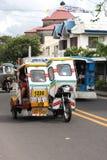 Triciclos nas Filipinas Fotografia de Stock