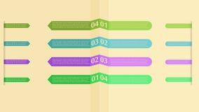 Tricircle Infographic Стоковые Изображения RF