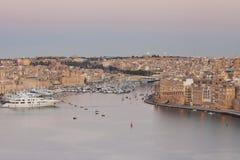 Tricity hamn i Malta Royaltyfri Fotografi