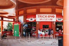 Trickögonmuseum Singapore i den Sentosa ön Royaltyfria Bilder