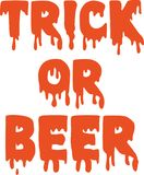 Trick or beer. Sweet pumpkin vector vector illustration