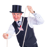Trick with cards Royalty Free Stock Photo