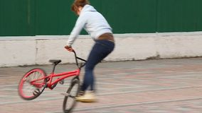 Trick cyclist stock video