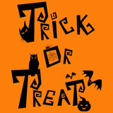 Trick eller treat royaltyfri illustrationer