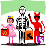 Trick eller Treat stock illustrationer