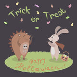 Trick eller treat! vektor illustrationer