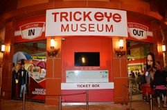 Trick Eye Museum Ticket Counter Stock Images