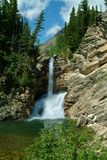 trick för fallsglaciärnationalpark Royaltyfri Fotografi