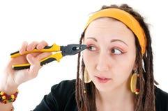 Trick makeup Royalty Free Stock Image