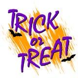 Trick ot treat card Royalty Free Stock Photo