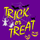 Trick ot treat card Stock Images
