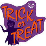 Trick ot treat card Royalty Free Stock Images