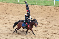 Trick riding Royalty Free Stock Photos