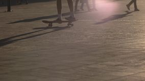 Trick on skateboard. stock footage