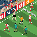 Trick Of Sports Fan Isometric Illustration Stock Photos