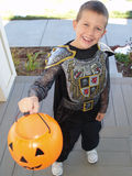 Trick or Treat. A little boy in a Halloween costume trick or teats Stock Photography