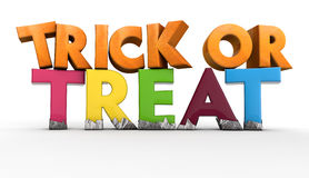 Trick or Treat. Halloween trick or treat text Stock Photo