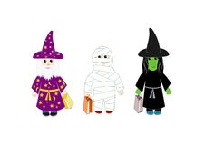 Trick or Treat. Ers dressed up for Halloween.  Also available as a vector Royalty Free Stock Image