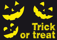 Trick or treat. Halloween poster. Character are isolated over the background Stock Photos