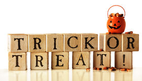 Trick or Treat Blocks royalty free stock image