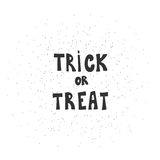 Trick or treat calligraphic inscription on a white background Stock Images