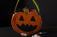 Trick or Treat. Candy bag Stock Photo