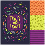 Trick or treat candy card Royalty Free Stock Photo
