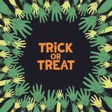 Trick or treat card design Stock Photography