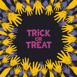 Trick or treat card design Royalty Free Stock Images