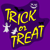 Trick or treat card Royalty Free Stock Image