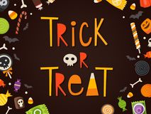 Trick or treat card stock illustration