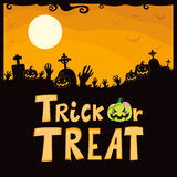 Trick Or Treat Cemetery Royalty Free Stock Images